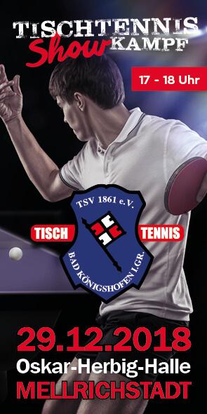 Tischtennis-Showkampf